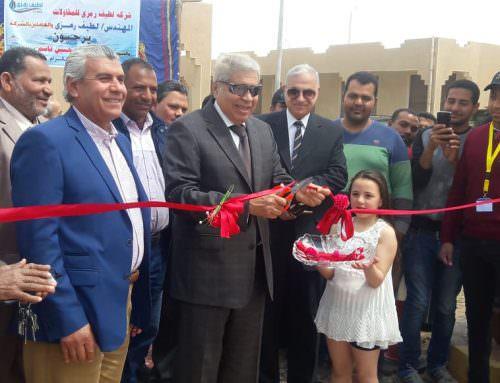 محافظ المنيا يفتتح محطة رفع صرف صحي الاوقاف .
